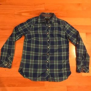 Talbots Plaid Button Up Shirt XS